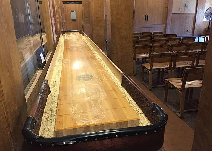 shuffleboard game room