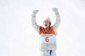 Red Gerard came back from behind with his third run to earn a gold medal