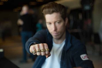 Shaun White - five Olympics, four gold medals