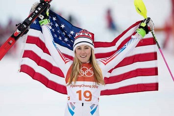Mikaela Shiffrin won gold in giant slalom and silver in alpine combined