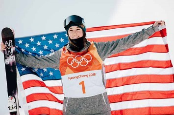 Brita Sigourney earned the bronze medal in freeskiing halfpipe