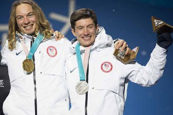 David Wise successfully defended his gold medal in freeskiing halfpipe, teammate Alex Ferreira took silver
