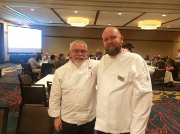 MAC Chef Philippe Boulot and Timberline Chef Jason Stoller Smith